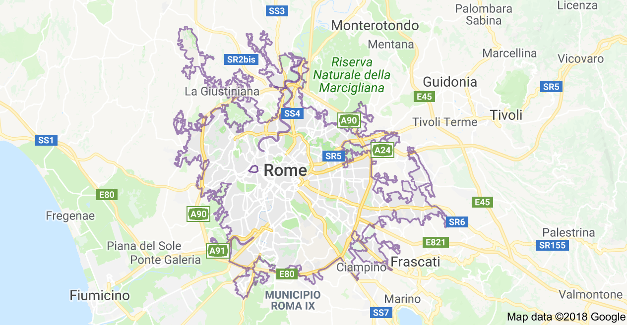 Rome City Online and Offline Map