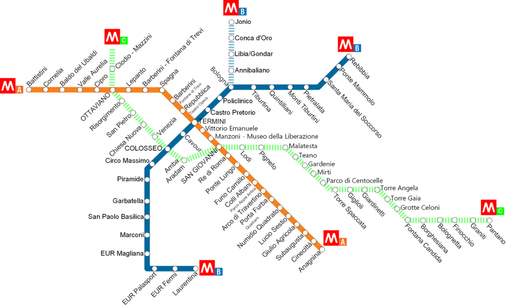 What The Roman Empire Would Look Like If It Was A Subway Map.Rome City Metro Guide And Map